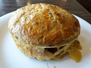 With a delicious crust, the Chciken Pot Pie at the Fallbrook Cafe is truly wonderful