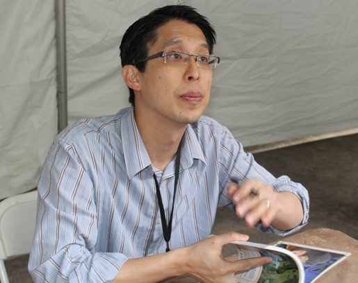 "Gene Yang, author of ""Boxers and Saints""."