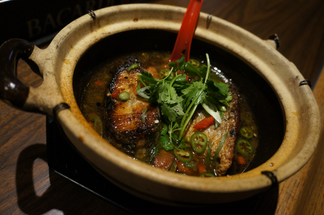 Claypot Caramelized Striped ass with Pancetta