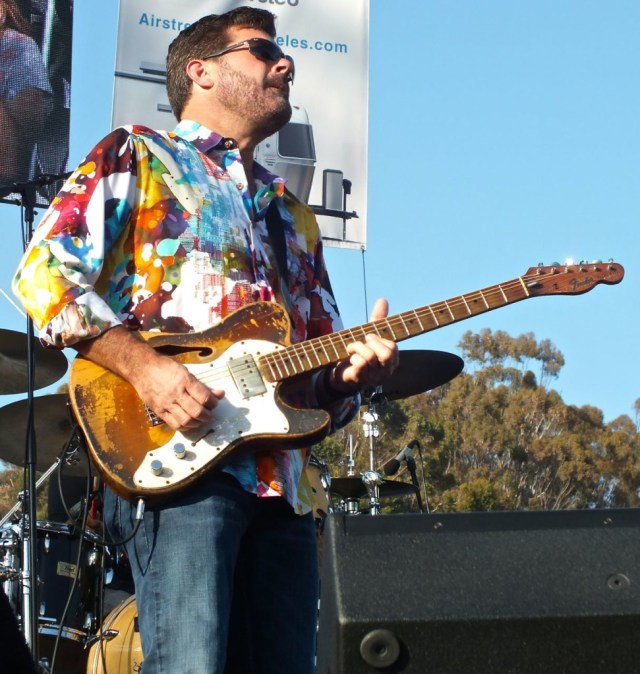 Tab Benoit on stage. Photo by Edward simon for the Los Angels Beat.