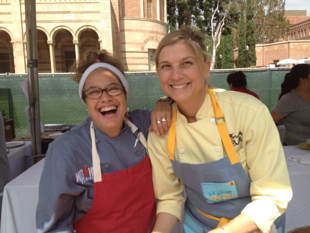 Susan Feniger and Mary Sue Milliken of Border Grill, two of the celebrity chefs cooking at the event (Photo by Elise Thompson)