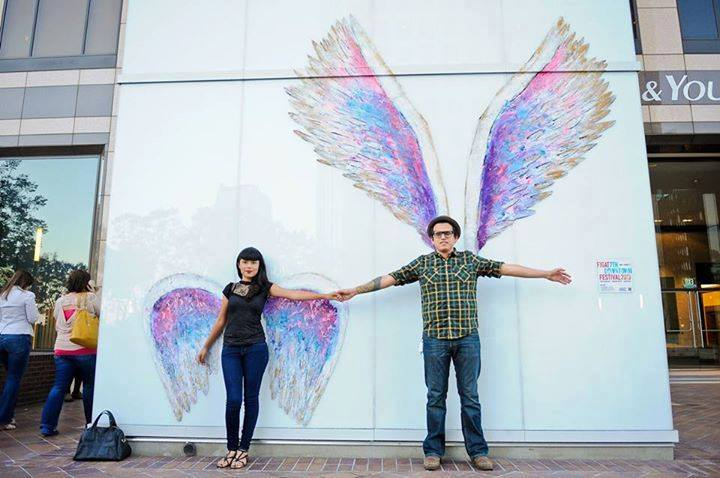 Colette miller giving the world wings the la beat for Painting in los angeles