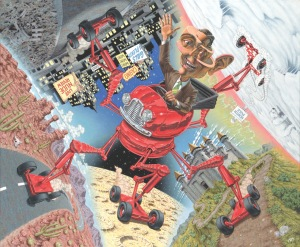 "New work from Robert Williams ""The Everywhere at Once Cabriolet"""