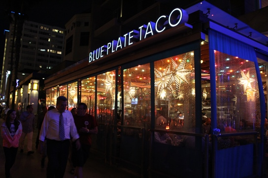 Outside Blue Plate Taco