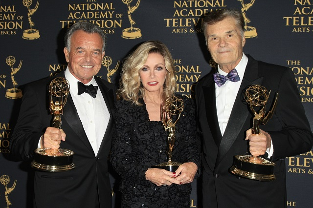 Photo Courtesy of Nina Prommer LOS ANGELES - APR 24: Ray Wise, Donna Mills, Fred Willard at The 42nd Daytime Creative Arts Emmy Awards Gala at the Universal Hilton Hotel on April 24, 2015 in Los Angeles, California