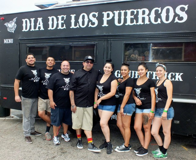 Dia de los Puercos crew 2014. Photo by Ed Simon for The Los Angeles Beat.