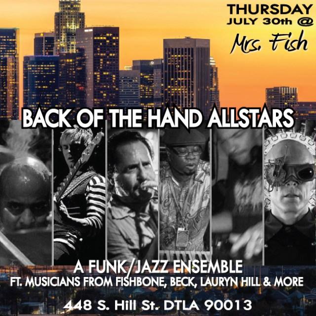 Back of the Hand All-Stars thursday-flyer