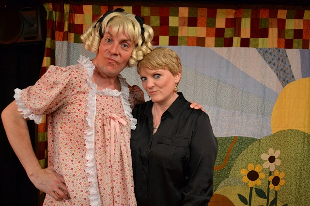 (L-R) Drew Droege and Alison Arngrim, Photo Courtesy of BHBPR