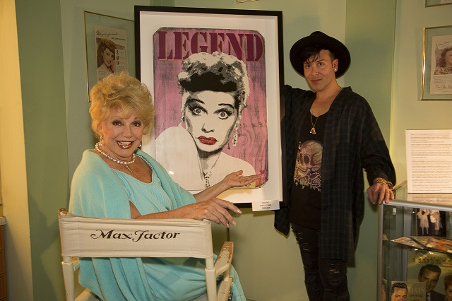 (L-R) Ruta Lee, and Pegasus, Photo Courtesy of Bill Dow