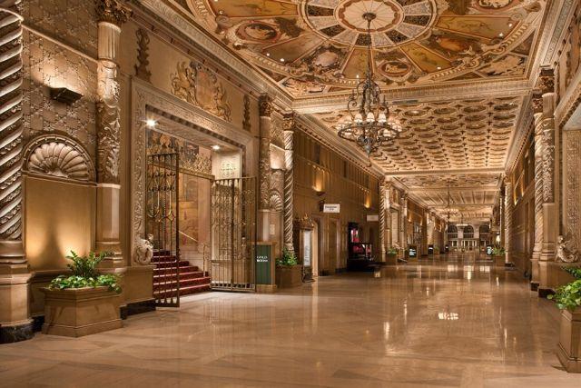 Interior of the Millennium Biltmore Hotel in Los Angeles.