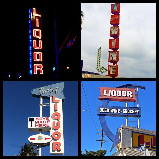 Playful and fun... Corner of Redondo & Anaheim in Long Beach; Valley Beverage Co., in business since 1953, on Ventura Blvd in Sherman Oaks; Rocket Liquor on Vanowen Street in Canoga Park; Sorrento Liquor on Cesar E Chavez Ave & Bunker Hill in Chinatown