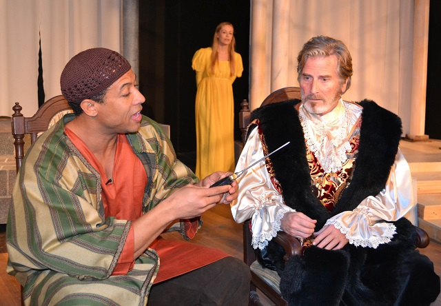 (L-R) Othello, Desdemona, Brabantio; Photo Courtesy of Mary Lange