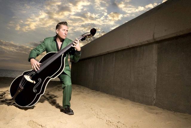 Lee Rocker and his bass. Photo courtesy of Doug Deutsch PR.