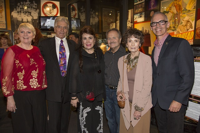 L-R Alison Arngrim, Paul Petersen, Museum Founder Donelle Dadigan, Jon Provost, Councilman Mitch O'Farrell--Photo Courtesy of Bill Dow Photography