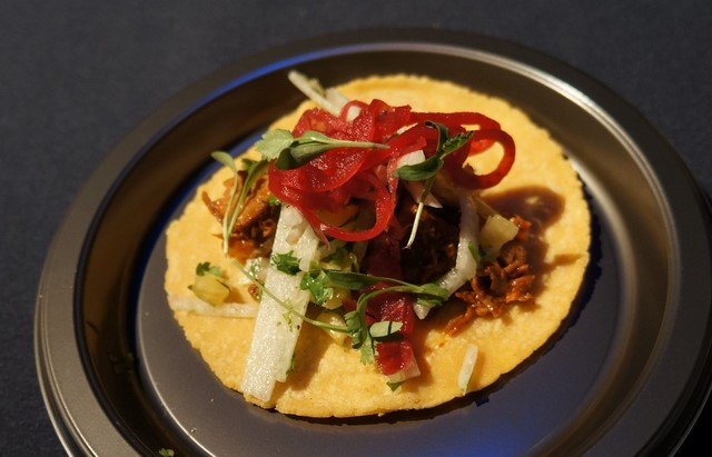 ChefsSusan Feniger's Yucatan Pork Taco at Taste of the NFL (All photos by Elise Thompson for The LA Beat)