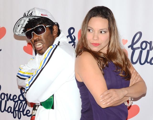 Cast Member Venk Potula and Actress Gloria Garayua (All photos by Billy Bennight for The LA Beat)