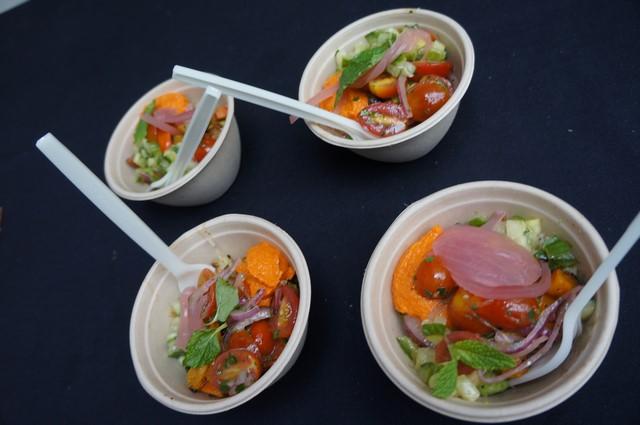CavaGrill, winner of Best Vegetarian served Roasted seasonal veggies and brown rice served in mini bowls