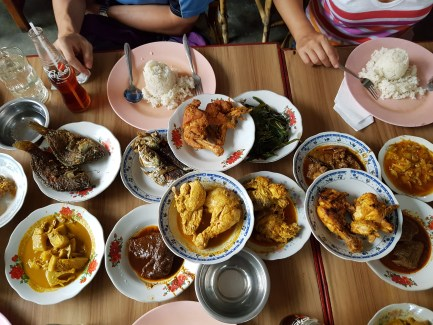 Nasi Padang in Manado city.