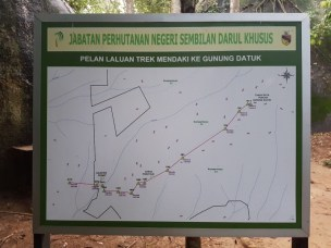 Map of Gunung Datuk trail.