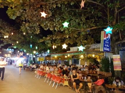 Bars and restaurants along Duong Dong Night Market