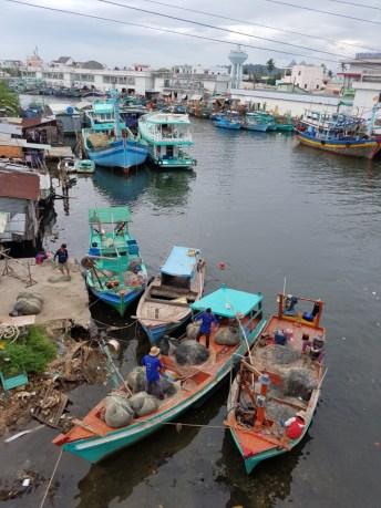 Fishing boats at Duong Dong River