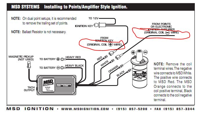 sport comp tach wiring diagram to msd ing