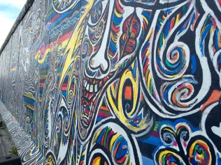 One side of the Berlin Wall (East Side Gallery)