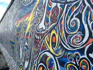 One side of the Berlin Wall (East Side Gallery)