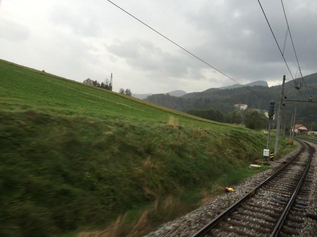 Train ride into Slovenia