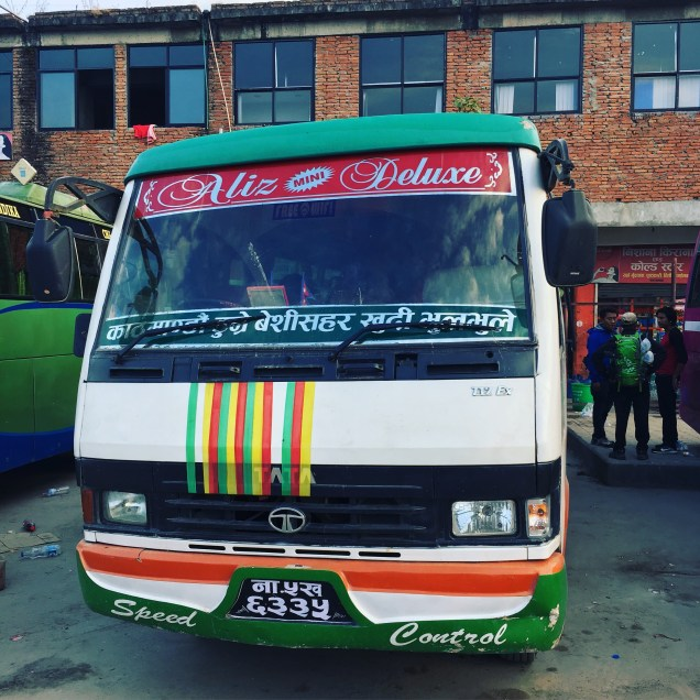 An 8 hour bus ride from Kathmandu to Bhulebhule to begin our journey