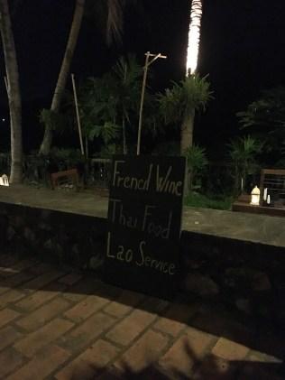 French Wine, Thai Food, Laos Service