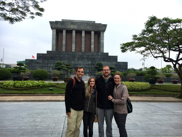 The Mausoleum of Ho Chi Minh before we went inside