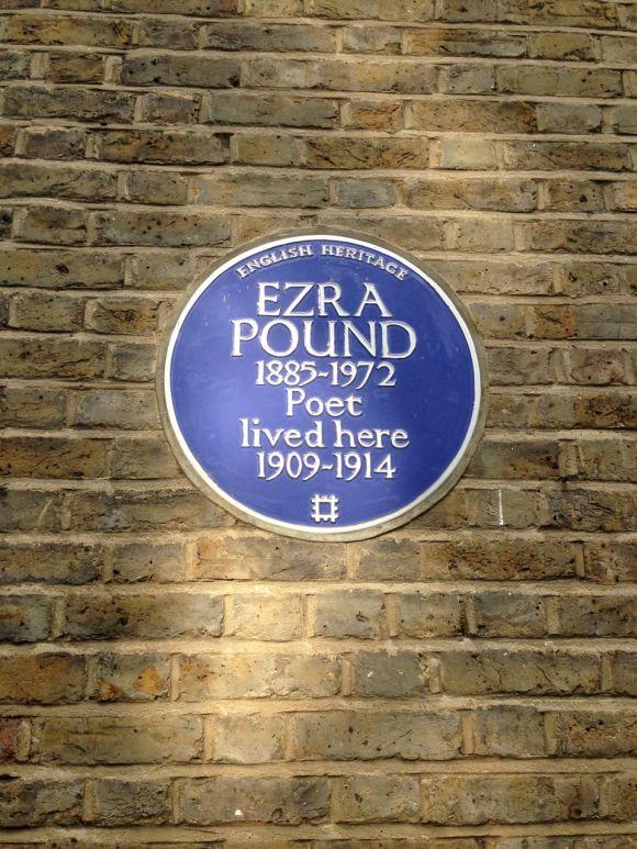Ezra Pound Kensington Blue Plaque