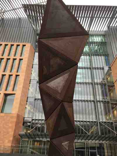 Paradigm - sculpture by Conrad Shawcross at the Francis Crick Institute