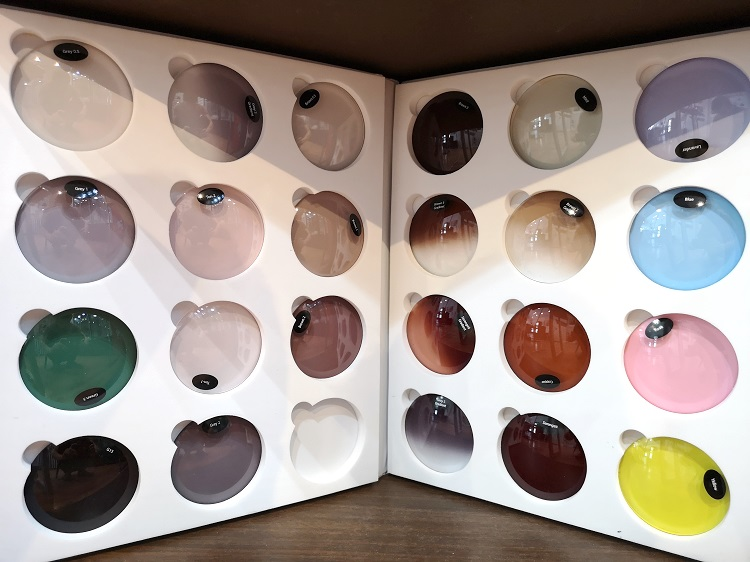 Collection of lens tints and gradients