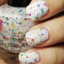 Oh Splat! White Rainbow Glitter Nail Polish