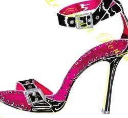 Manolo Blahnik Shoe Fashion Lithograph