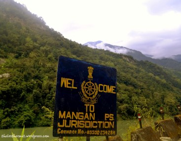 Near the entrance to Mangan