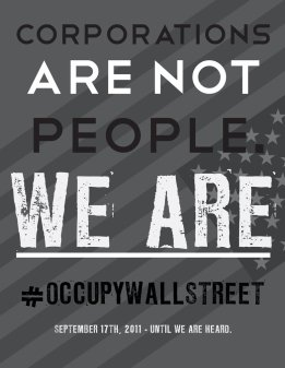 Occupy Wall Street and the 99% fortified the Illusion that we are free. The Movement is a Luxury afforded to Faux Democracy, while those 98% live and strive to feed themselves, and are devoid of the luxury to sit and be well fed, in protest
