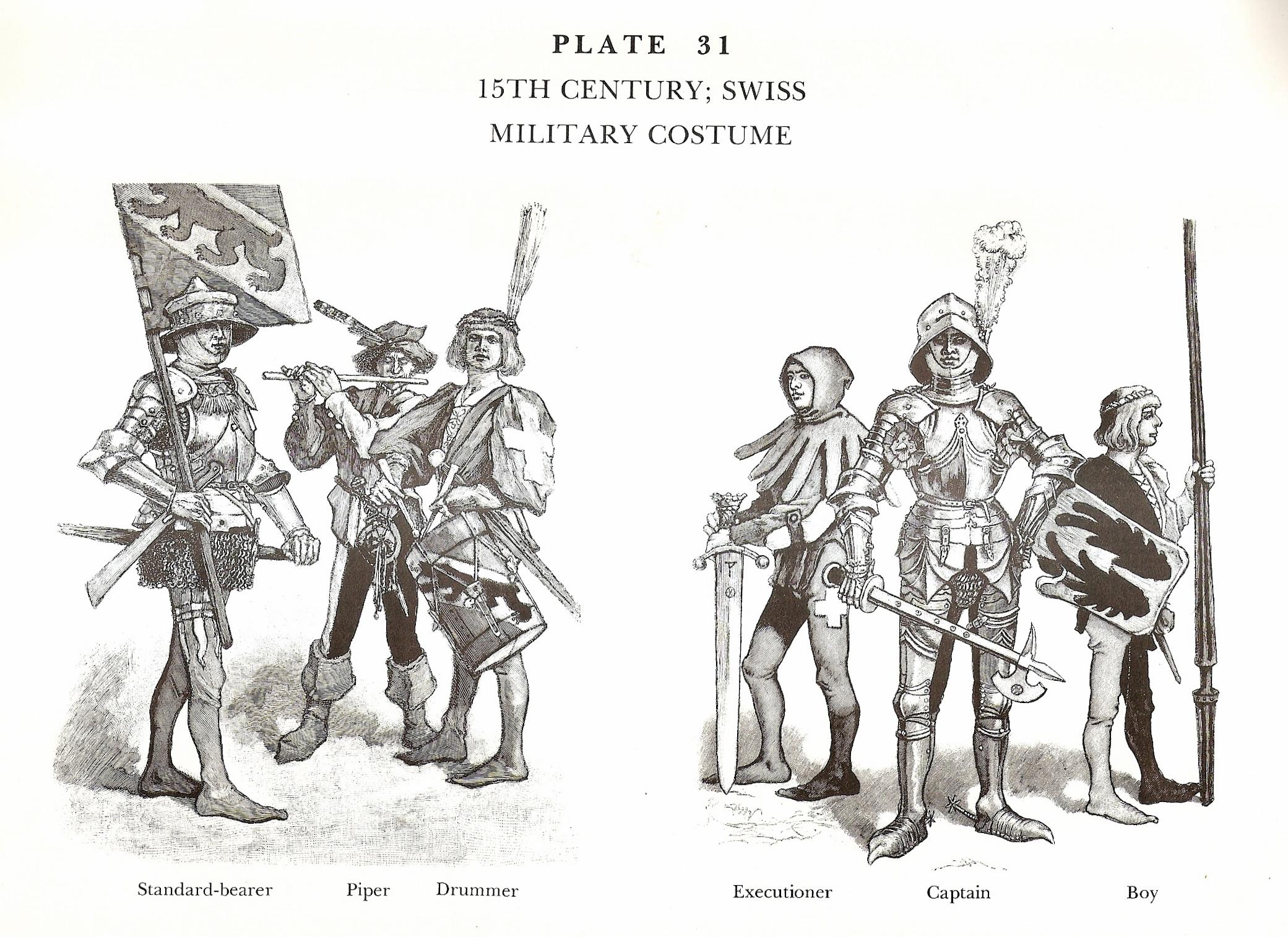 15th Century Swiss Military Costume