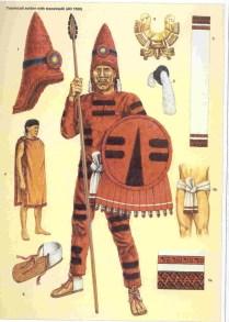 Adam Hook showing a elite warrior of the Aztec empire
