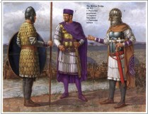 richard hook showing roman warriors of the Praetorian Guard under the emperor Septimus Severus in the 1st and 2th century AD