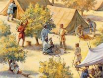 Vida de campamento, África del Norte, 533 d.C.