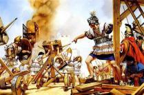Alejandro Magno en el asedio de Tiro, 332 a.C.