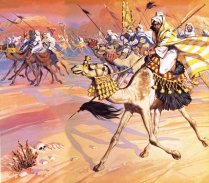 Arabs pouring across the desert to kill Mohamed