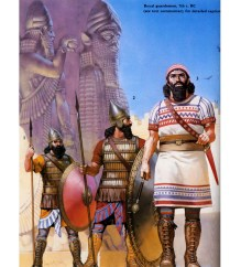 assyrian warriors of the royal guard
