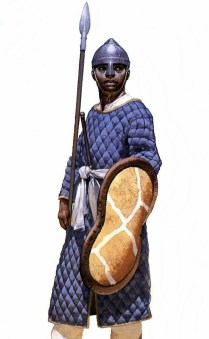 christian nubian infantryman of the Kingdom of Makuria in the 10th century AD