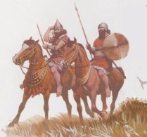 Early Assyrian cavalry from the reign of Ashurnasirpal II (833-859 BC)