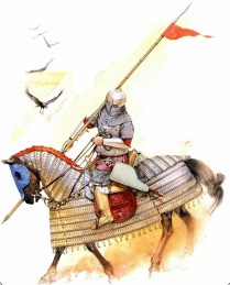 egyptian muslim cavalryman of the Mamluk Burji dynasty during the war against Tamerlane in the 15th century AD