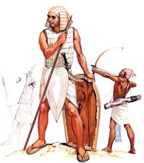 egyptian warriors in the 13th century AD.